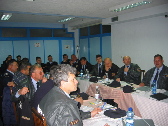 Training of police officers in Vinica
